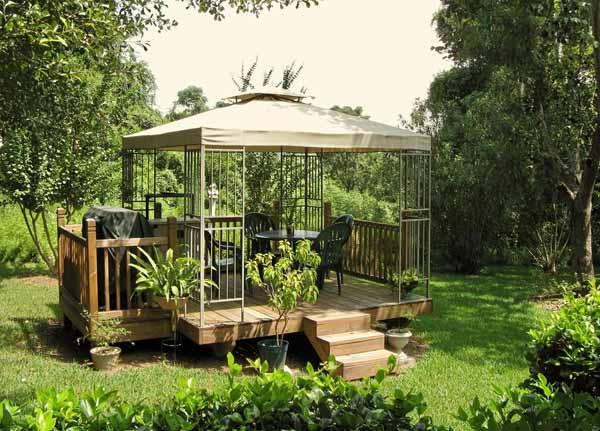 Illuminazione Gazebo Legno Giardino: Gazebo da giardino in legno per.