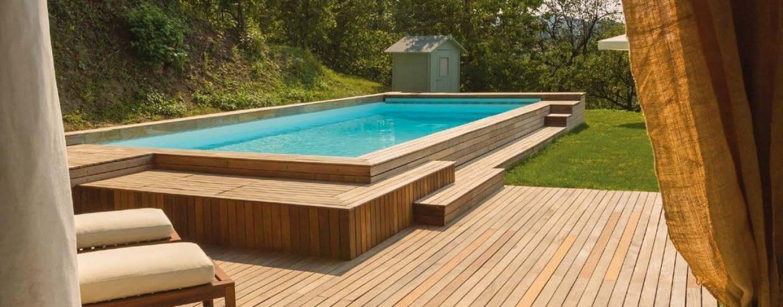 Piscine fuori terra coltivare facile - Giardino con piscina fuori terra ...