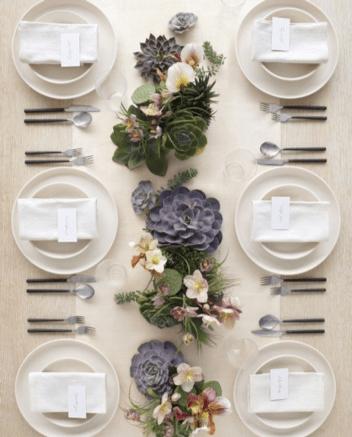 Giardino lineare a tavola