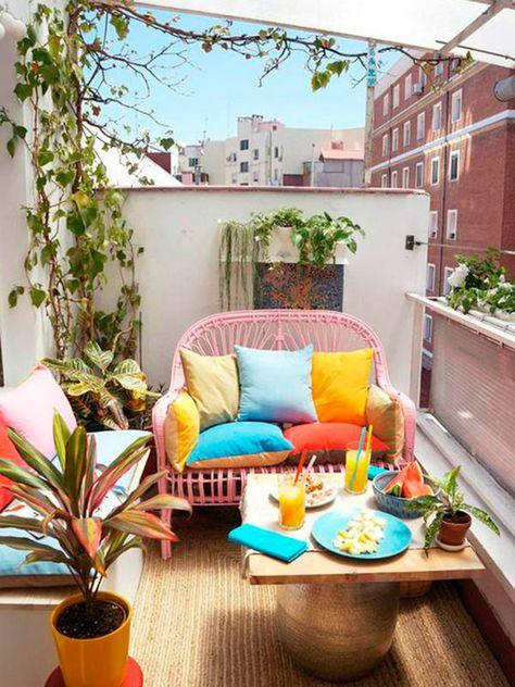 Piccolo terrazzo in stile mediterraneo